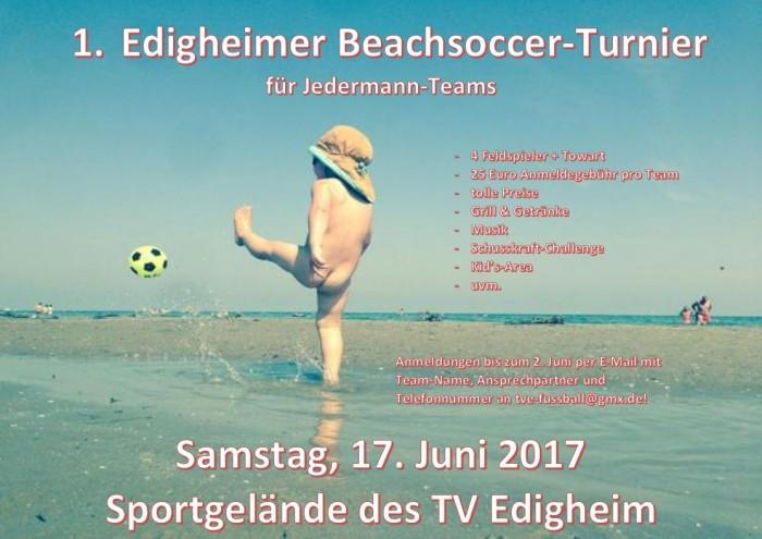 Beachsoccer-Turnier für Jedermann im Juni!